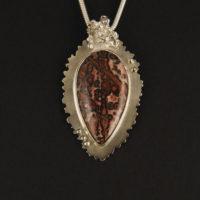 Leopardskin Jasper, Sterling Pendant 284