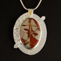 Noreena, Sterling, Reticulating Silver, 22K Gold Pendant 308