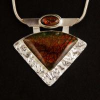Ammolites, Sterling, Reticulating Silver, Pendant 320