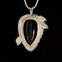 Onyx Druzy, Sterling Pendant, 346