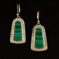 Malachite, Sterling Earrings 200