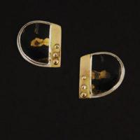Black Jade with Gold Earrings 214