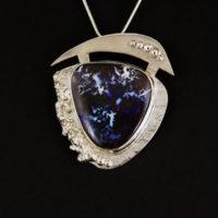 Boulder Opal, Sterling Pendant 363
