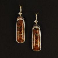 Pietersite, Sterling Earrings 218