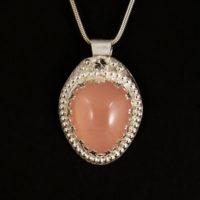 Rose Quartz, Sterling Pendant 384